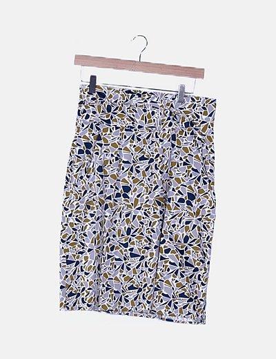 Falda mini estampado multicolor