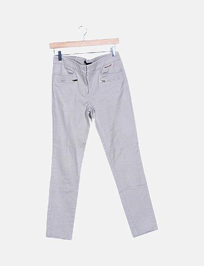 Pantalón taupe texturizado
