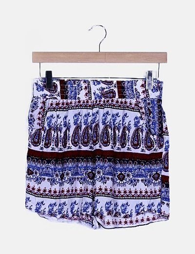 Short fluido estampado