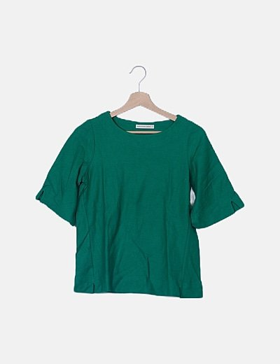 Camiseta texturizada verde