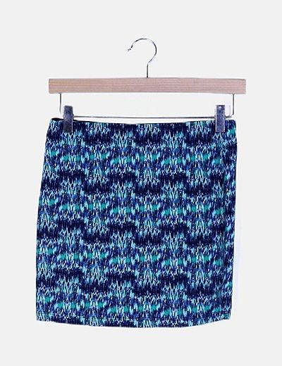 Mini falda elástica estampada