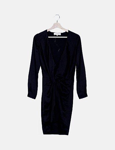 Vestido negro satén