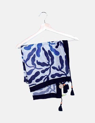 Foulard estampado azul