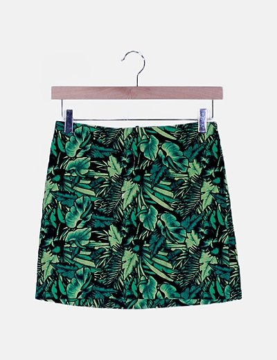 Mini falda print tropical