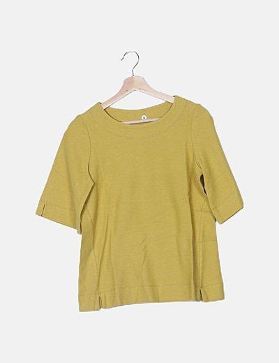 Camiseta texturizada mostaza