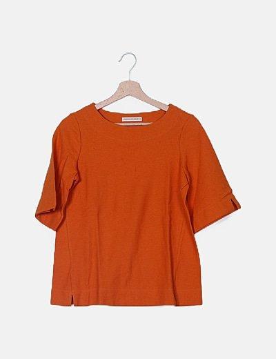 Camiseta texturizada naranja
