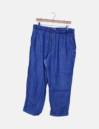 Pantalón baggy efecto denim