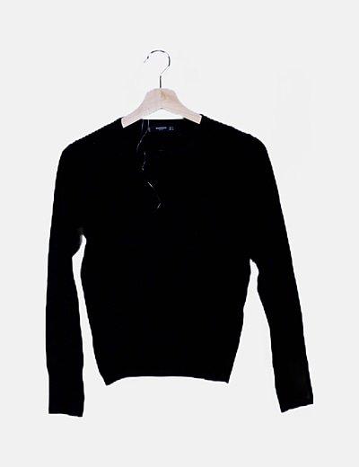 Jersey tricot texturizado negro