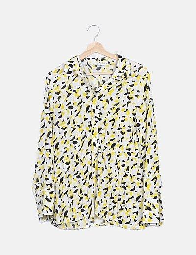 Camisa animal print amarilla
