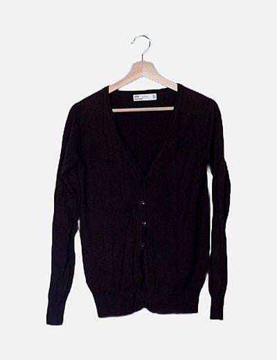 Cárdigan tricot marrón