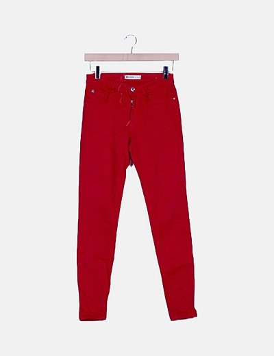 Pantalón denim rosa
