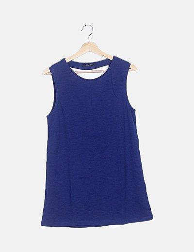 Camiseta tricot azul