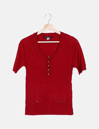 Jersey tricot rojo