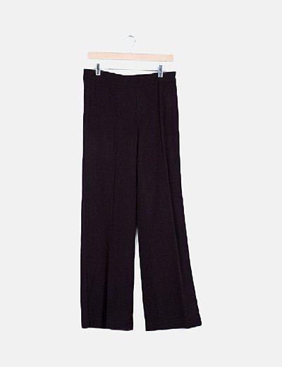 Pantalón fluido marrón