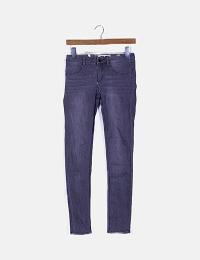 Jeans denim gris