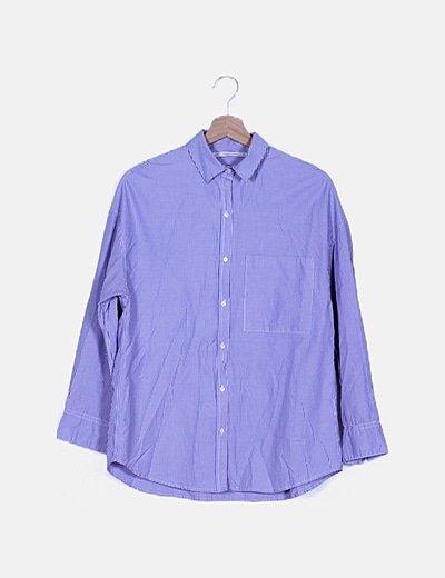 Camisa lila raya diplomática
