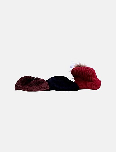 Pack gorros de lana combinados