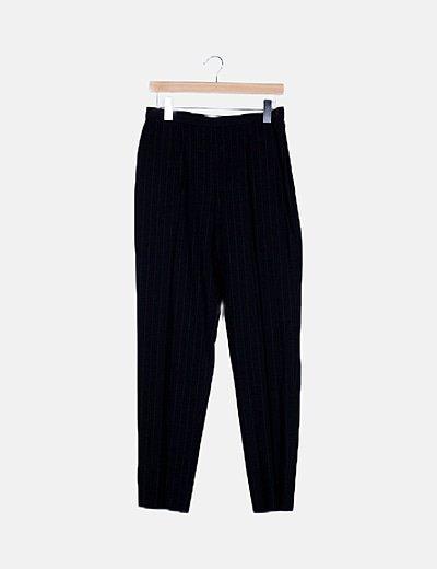 Pantalón negro de rayas
