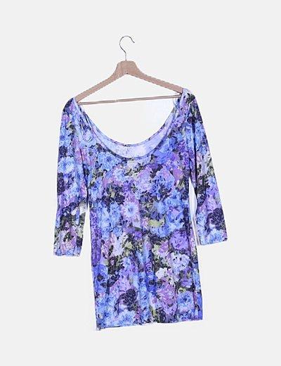Vestido multicolor print floral
