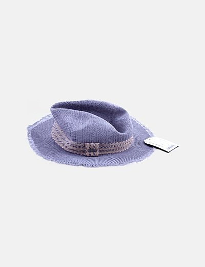 Sombrero de rafia gris