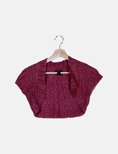 Torera tricot rosa
