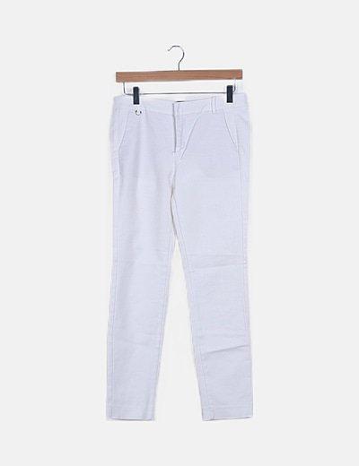 Pantalón blanco de vestir estilo chino