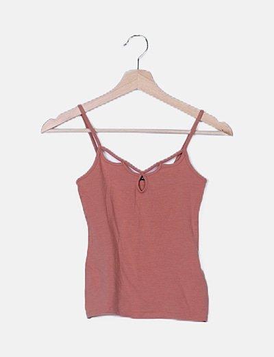 Camiseta rosa tirantes