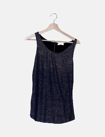 Camiseta glitter plateado