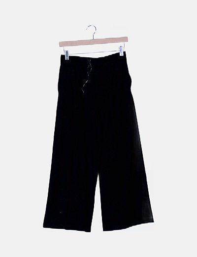 Pantalón negro de pinza