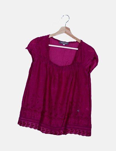 Blusa lila detalles bordados