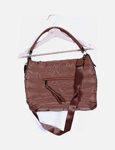 Bolso acolchado marrón