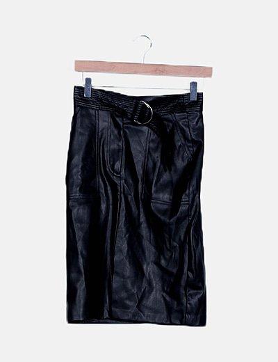 Falda negra de poliel