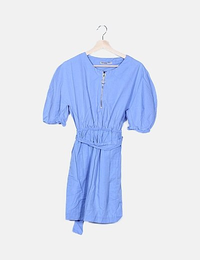 Vestido azul con cremallera
