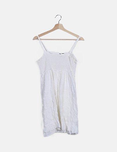Mini vestido texturizado blanco
