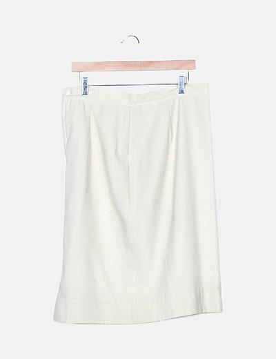 Falda beige midi