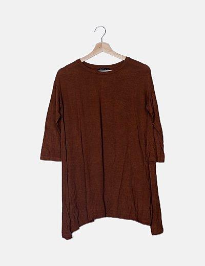 Camiseta manga francesa marrón