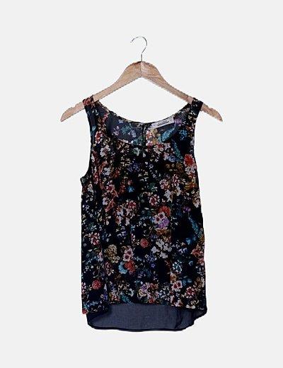Blusa floral multicolor