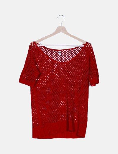 Jersey rojo troquelado