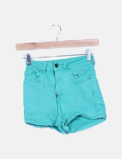 Shorts denim turquesa
