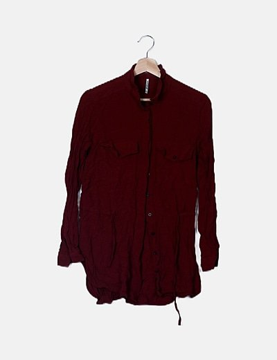 Camisa peplum marrón