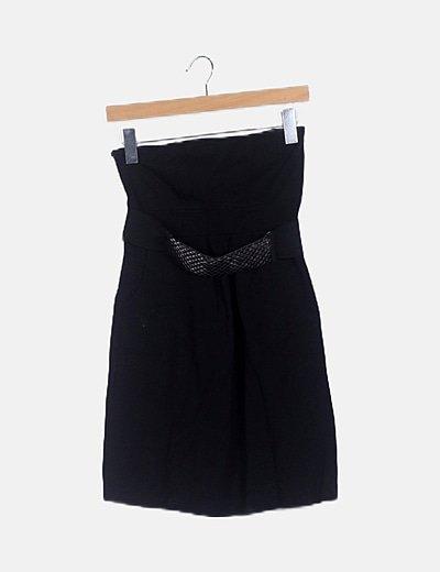 Vestido negro detalle tachas