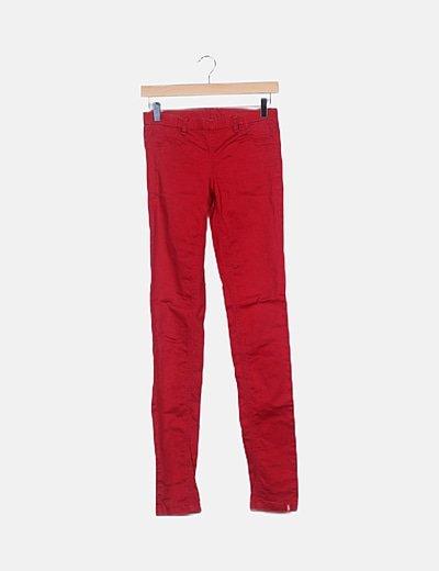 Jegging rojo cintura elástica