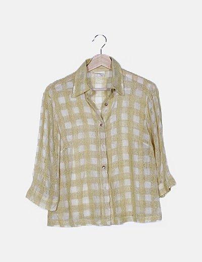 Camisa amarilla bordada