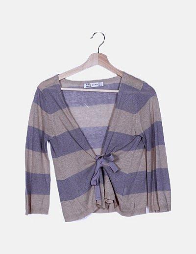 Chaqueta tricot rayas
