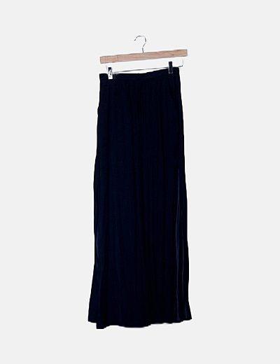 Maxi falda azul marina
