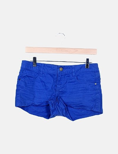 Short denim azul