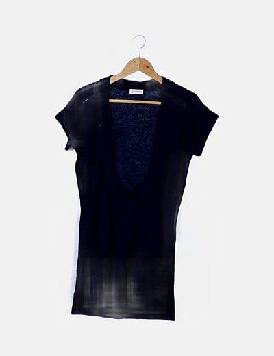 Jersey tricot azul marino