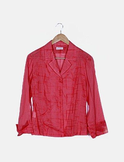 Camisa coral bordada