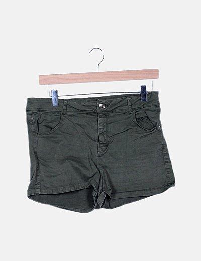 Short denim khaki