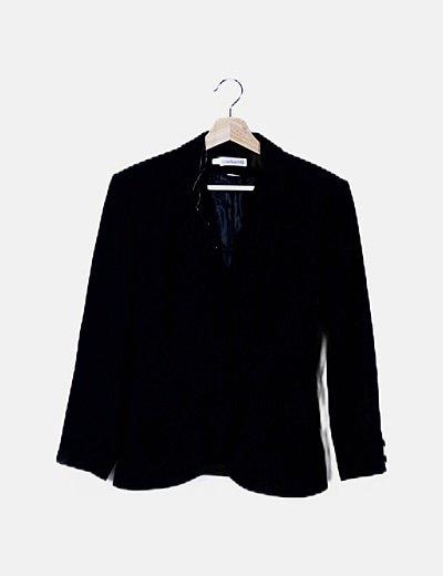 Conjunto blazer y falda negras